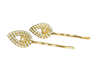 Gold plated hair pin