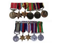 A group of ww2 medals