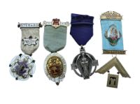 A collection of secret society medals
