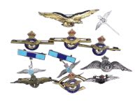 A group of military brooches