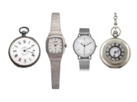 Silver watches and pocket watches