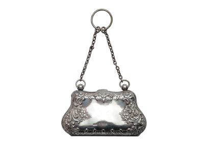 Silver plated purse